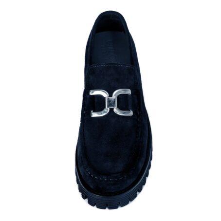 Black suede horsbit loafers 4