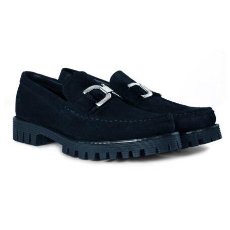 Black suede horsbit loafers 5