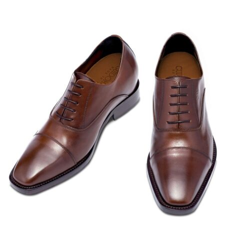 Brown classic leather shoes 2