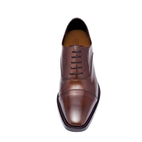 Brown classic leather shoes 4
