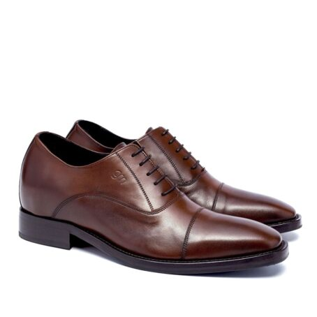 Brown classic leather shoes 5