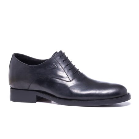 Shiny oxford black leather shoes 1