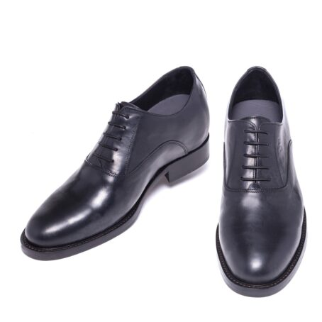 Shiny oxford black leather shoes 2
