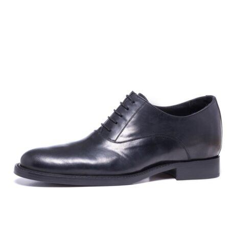 Shiny oxford black leather shoes 3