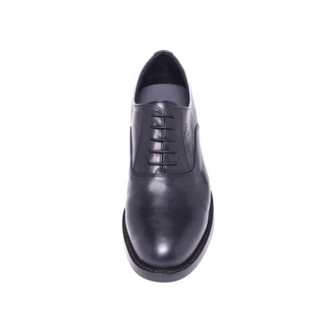 Shiny oxford black leather shoes 4