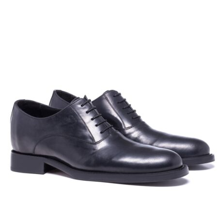 Shiny oxford black leather shoes 5