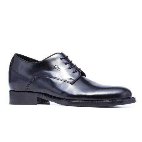 Shiny black derby shoes 1