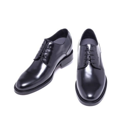 Shiny black derby shoes 2