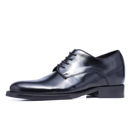 Shiny black derby shoes 3