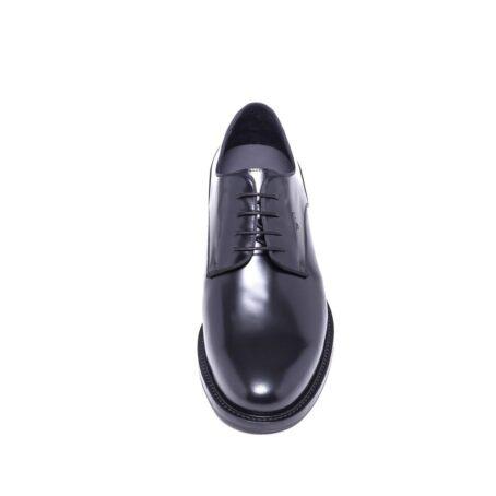 Shiny black derby shoes 4