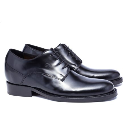 Shiny black derby shoes 5