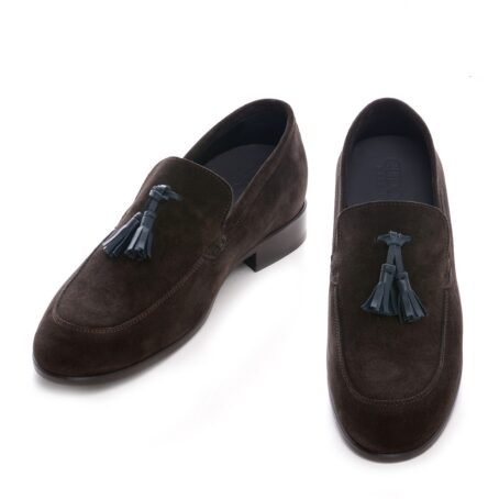 Tassel suede loafers for man 2