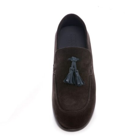 Tassel suede loafers for man 4