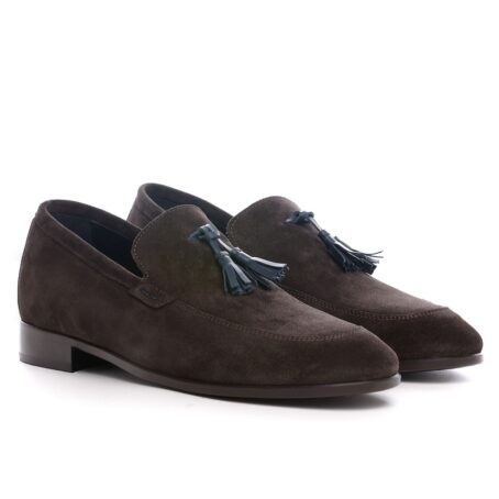 Tassel suede loafers for man 5