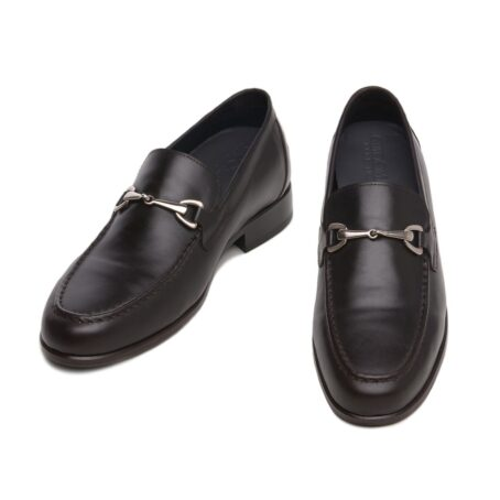 Horsbit leather loafers for man 2
