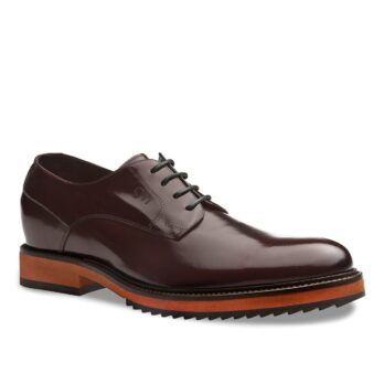 Derby leather shoes for man 1