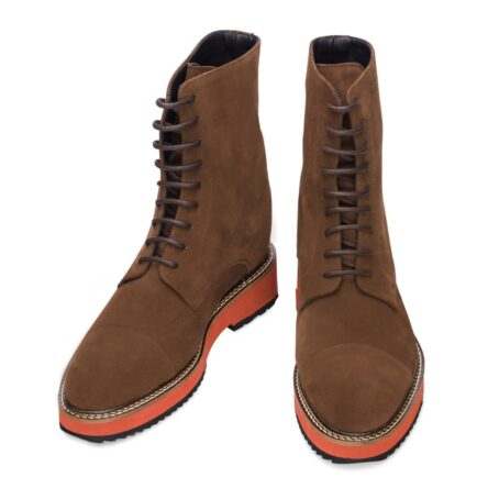 Suede brown winter boots 2