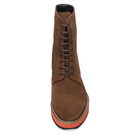 Suede brown winter boots 4