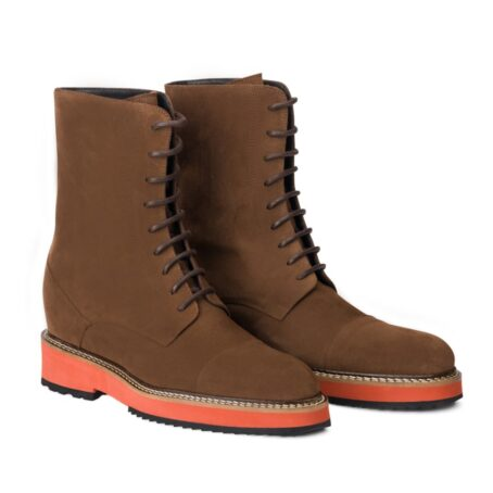 Suede brown winter boots 5
