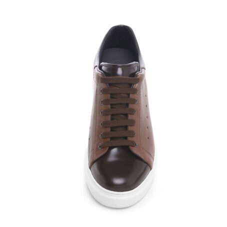Brown leather sneakers 4