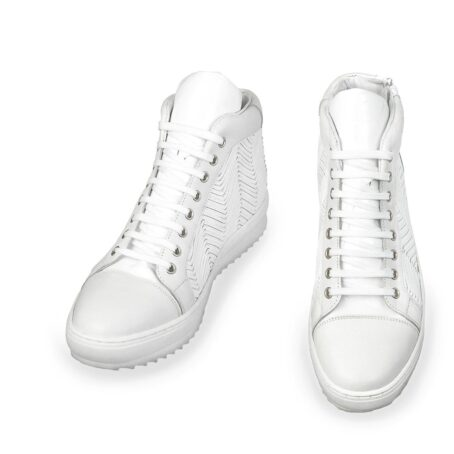 White leather elevator sneaker 2