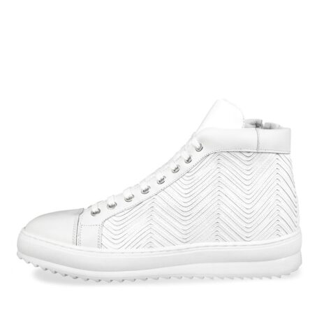 White leather elevator sneaker 3