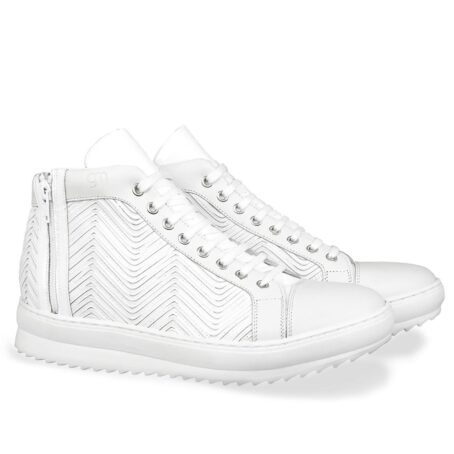 White leather elevator sneaker 5