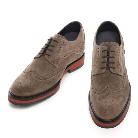 Brown suede brogue shoes for man 2