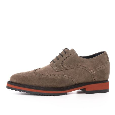 Brown suede brogue shoes for man 3