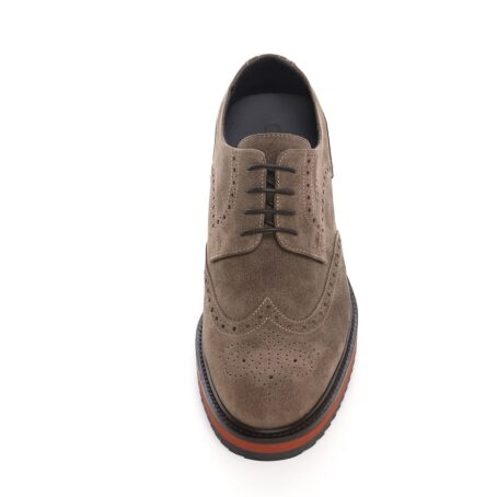 Brown suede brogue shoes for man 4