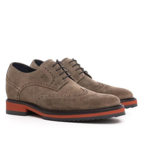 Brown suede brogue shoes for man 5