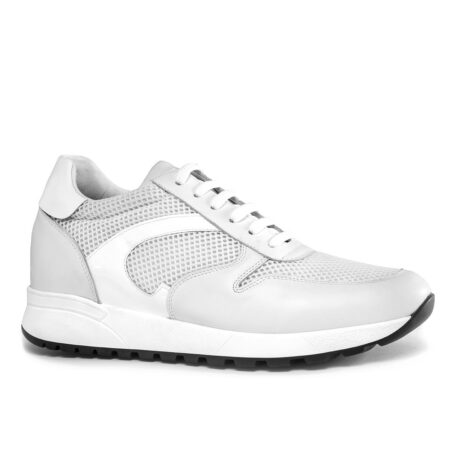 White sneakers shoes made in Italy 1