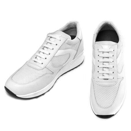 White sneakers shoes made in Italy 2