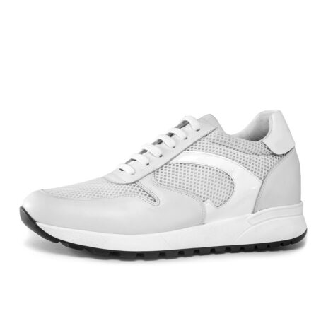 White sneakers shoes made in Italy 3