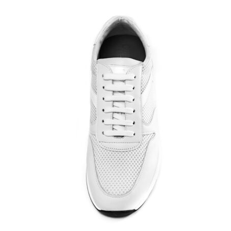 White sneakers shoes made in Italy 4