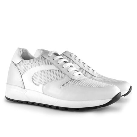 White sneakers shoes made in Italy 5