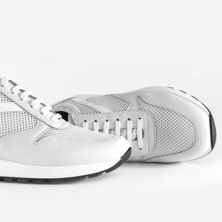 White sneakers shoes made in Italy 6