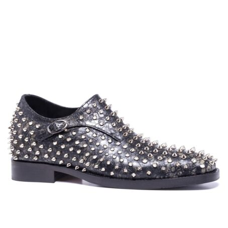 Monk strap shoes with studs for man 1