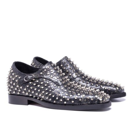 Monk strap shoes with studs for man 5