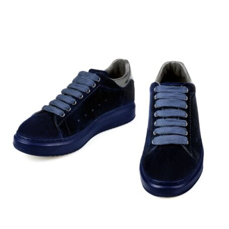 Blue suede elevator sneakers for man 2