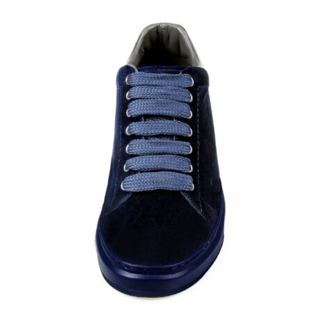 Blue suede elevator sneakers for man 3