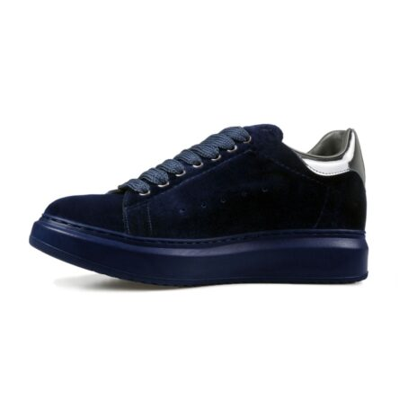 Blue suede elevator sneakers for man 4