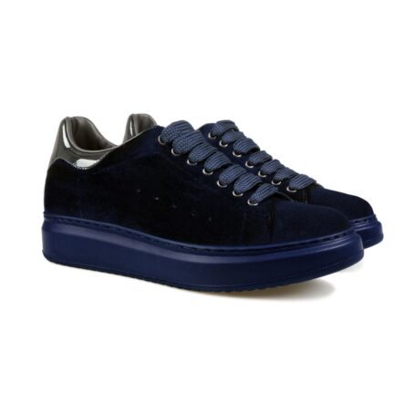 Blue suede elevator sneakers for man 5