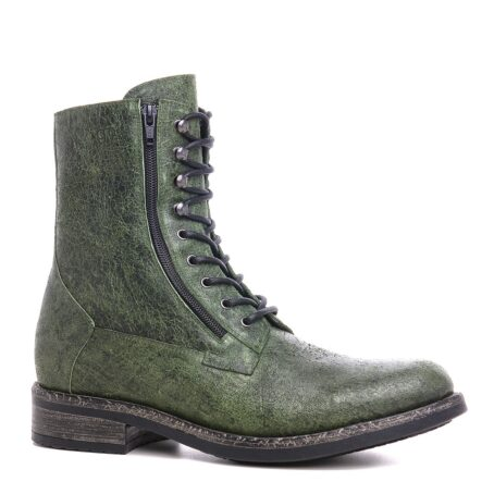 Green leather boots for man 1