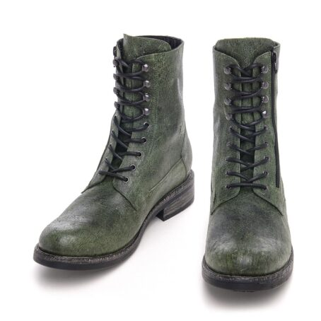 Green leather boots for man 2