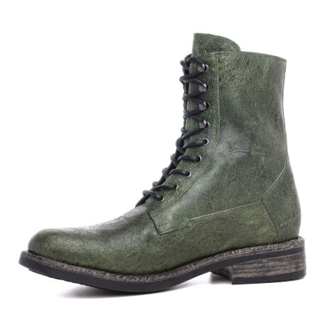 Green leather boots for man 3