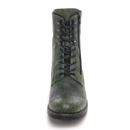 Green leather boots for man 4