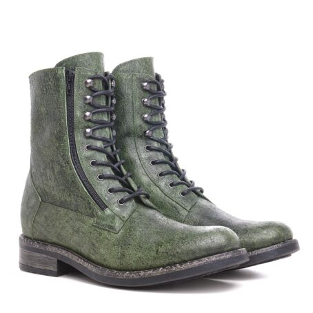 Green leather boots for man 5
