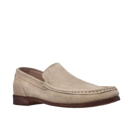 Suede beige loafers for man 5
