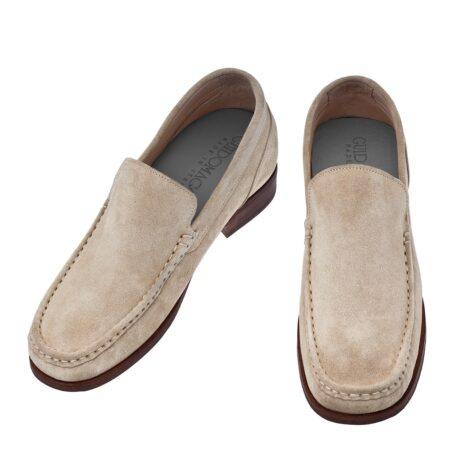 Suede beige loafers for man 4
